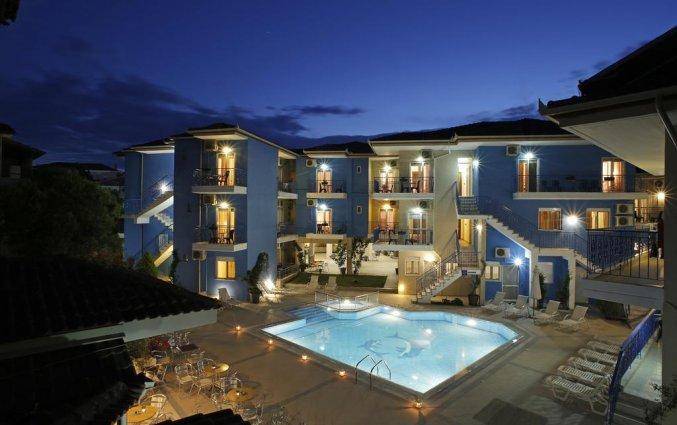 Buitenzijde van Hotel Stratos op Chalkidiki