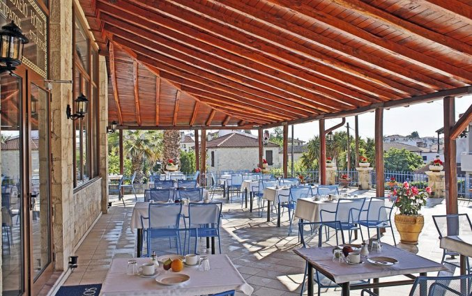 Terras van Hotel Stratos op Chalkidiki