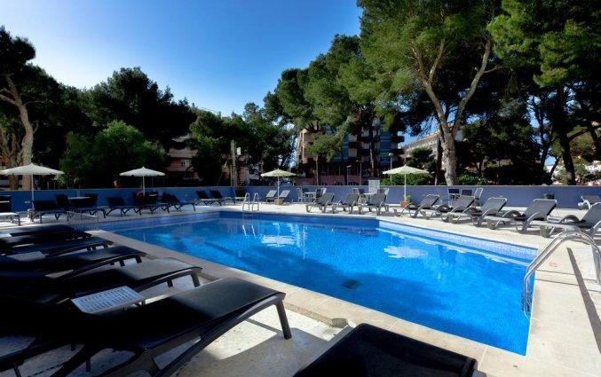 Buitenzwembad met tuin van Hotel Torre Azul op Mallorca