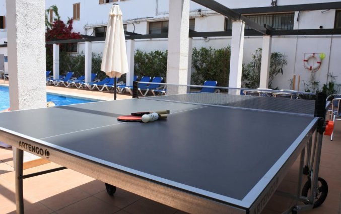 Tafeltennistafel bij Appartementen Arcos Playa Mallorca