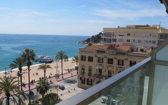 Balkon met uitzicht Hotel Miramar