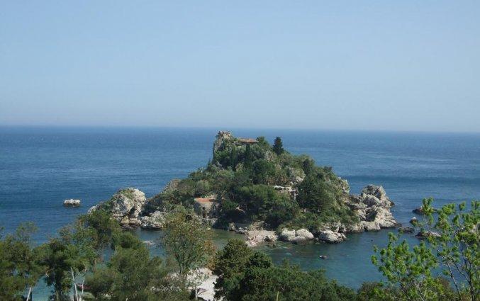 Uitzicht van Hotel Isola Bella op Sicilie