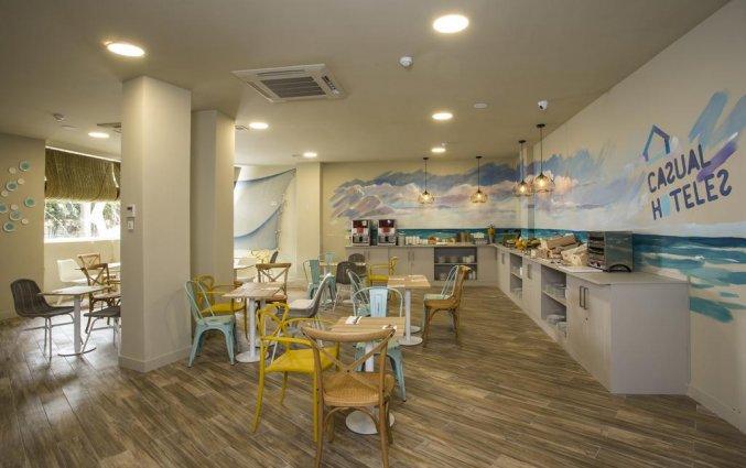 Ontbijtzaal van hotel Casual Malaga del Mar in Malaga
