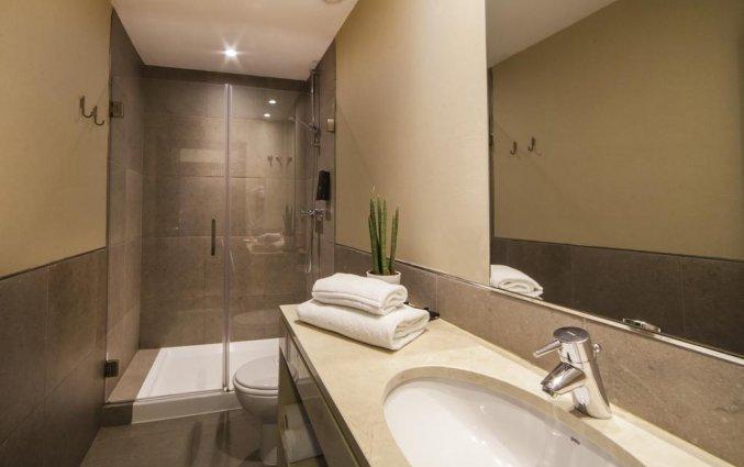 Badkamer hotel Expo Astoria in Lissabon