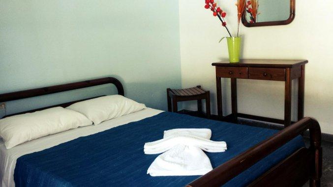 Tweepersoonsbed van appartement van Appartementen Corifo Village Corfu