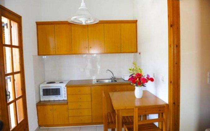 Kitchenette van Irene Apartments op Corfu