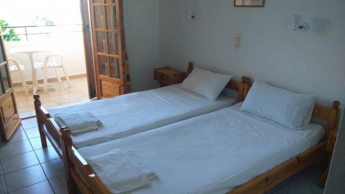 Slaapkamer van Irene Apartments op Corfu