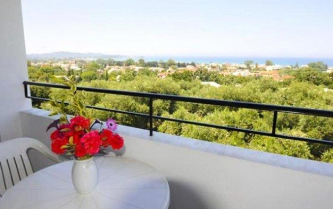 Balkon bij Irene Apartments op Corfu