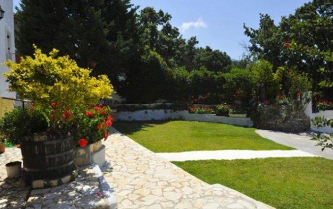 Tuin van Irene Apartments vakantie Corfu