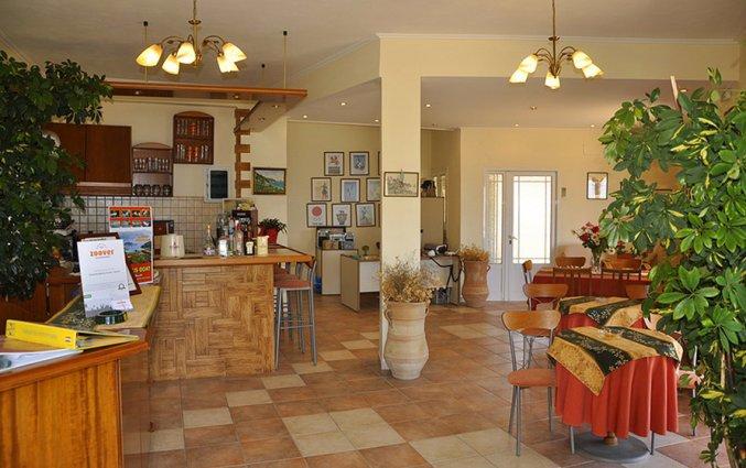 Receptie van Appartementen Mazis op Corfu