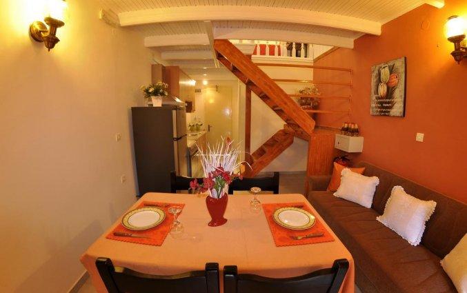 Woonkamer van een appartement van Appartementen Mazis op Corfu