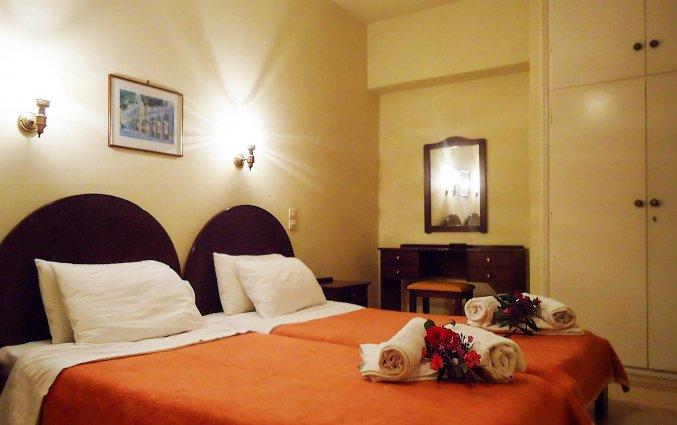 Tweepersoonskamer van Hotel Ccb Bruskos op Corfu