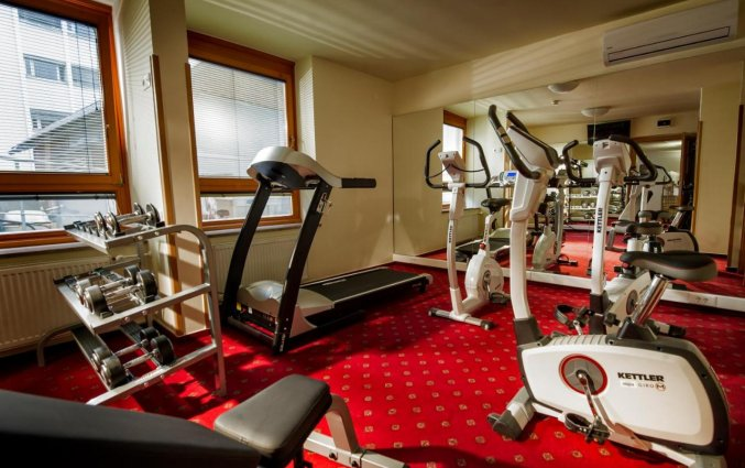 Fitnessruimte van Hotel City inn Ljubljana