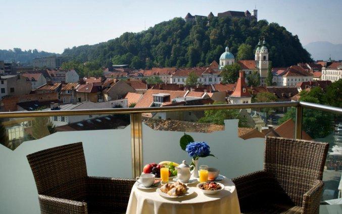 Terras van Hotel City inn Ljubljana