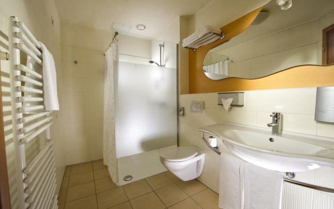 Badkamer van een tweepersoonskamer van Hotel City inn Ljubljana
