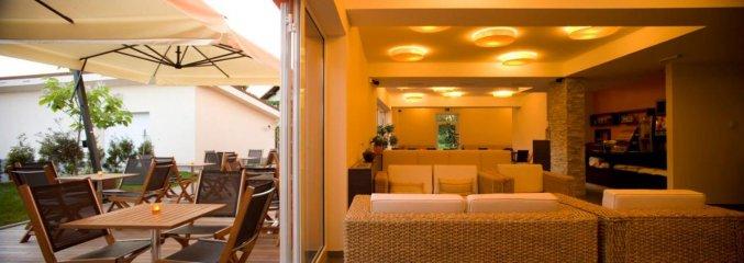 Lobby van hotel Ahotel in Ljubljana