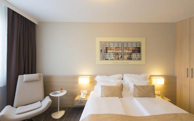 Tweepersoonskamer van hotel Ahotel in Ljubljana
