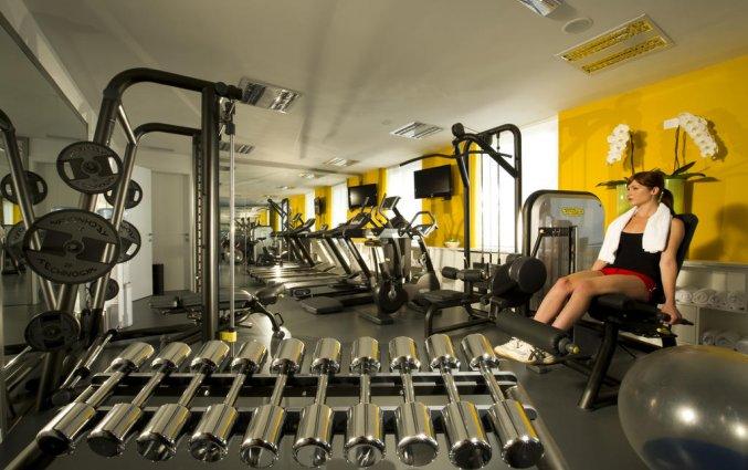 Fitnessruimte van hotel Best Western Premier Slon in Ljubljana