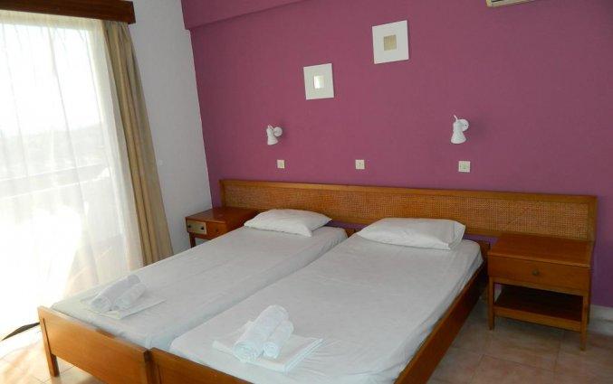 Tweepersoonskamer van hotel Telhinis op Rhodos