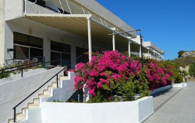 Ingang hotel Telhinis op Rhodos