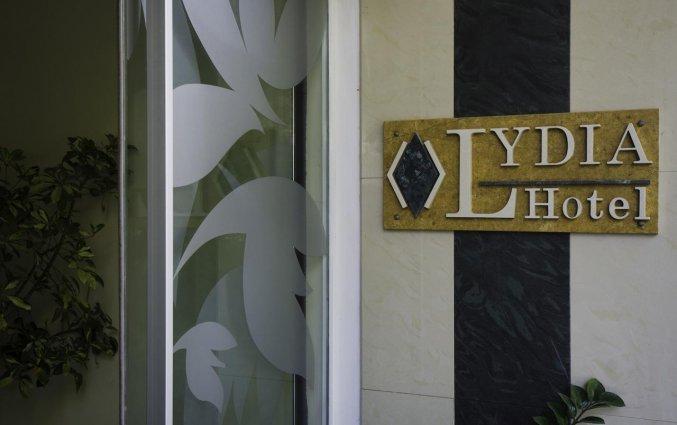 Ingang van Hotel Lydia op Rhodos
