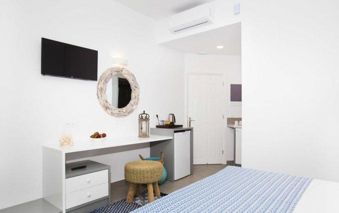 Tweepersoonskamer van Appartementen Lindos Portes op Rhodos