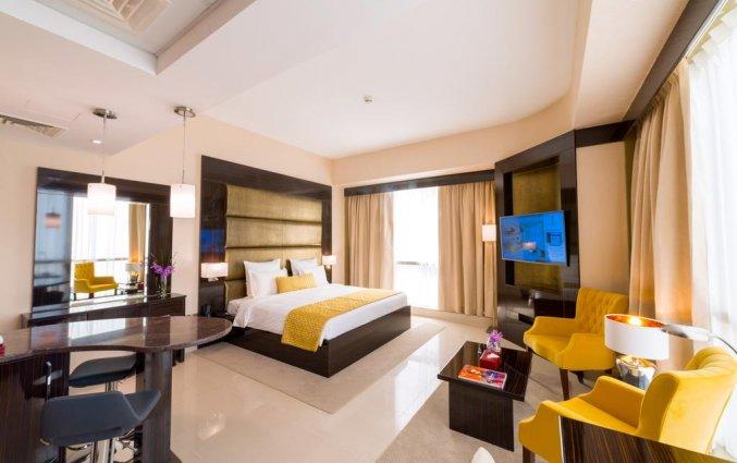 deluxe kamer met tweepersoonsbed van hotel Gevora in Dubai