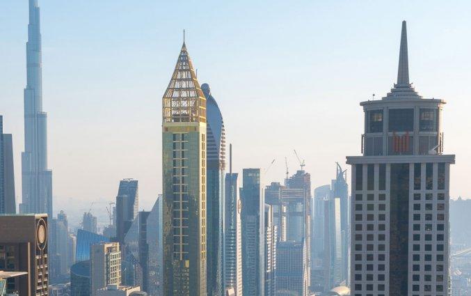 Buitenkant van hotel Gevora in Dubai