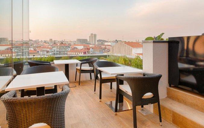 Terras van hotel Premium Porto Downtown in Porto