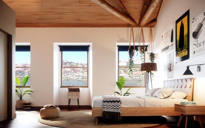 Superieur kamer met uitzicht Buitenkant van Hostel & Suites The house of Sandeman stedentrip Porto