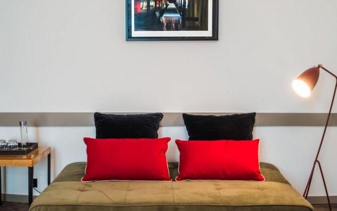 Zitdeel in kamer van hotel en Bistro The Artist in Porto