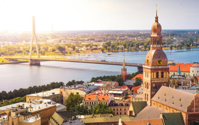 Riga - Uitzicht op de oude stad