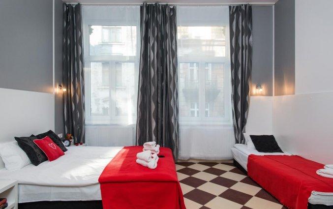 Slaapkamer van een appartement van appartementen Happy Tower Krakow in Krakau