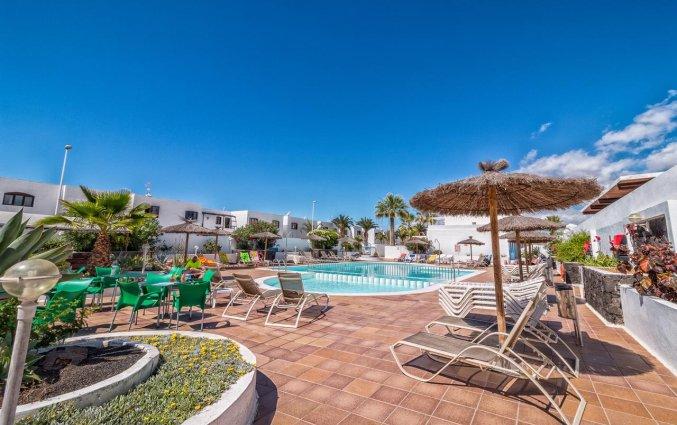 Buitenzwembad met zonneterras van Apartamentos Oasis THe Home Collection op Lanzarote