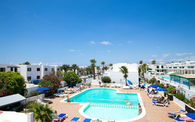 Uitzicht op Apartamentos Oasis THe Home Collection op Lanzarote