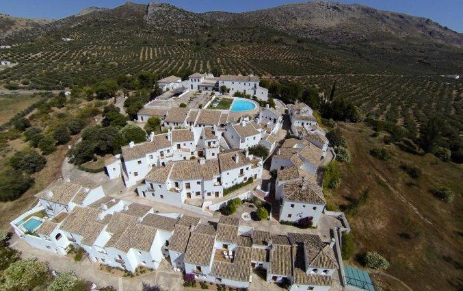 Bovenaanzicht van Hotel Villa de Priego de Córdoba in Andalusie
