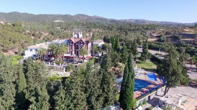 Uitzicht op Hotel Abetos del Maestre Escuela in Andalusie