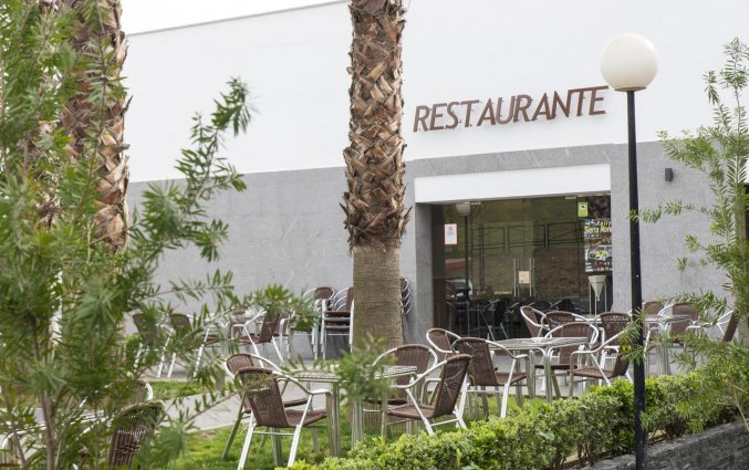 Terras van het restaurant van Hotel Rural Las Monteras Andalusië