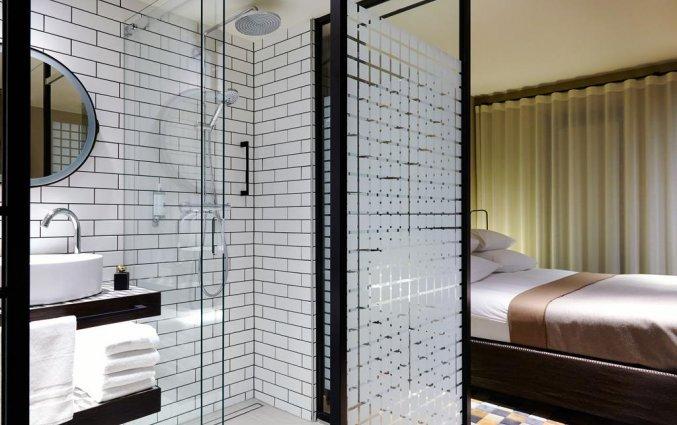 Badkamer van een tweepersoonskamer van Hotel Puro Gdansk Stare Miasto in Gdansk