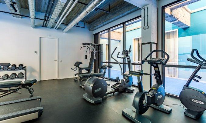 Fitnessruimte van Hotel Room Mate Bruno Rotterdam