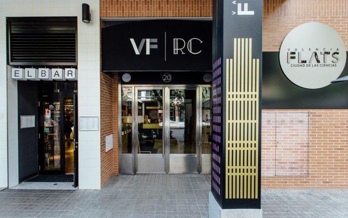 Ingang van Hotel Rooms Ciencias in Valencia