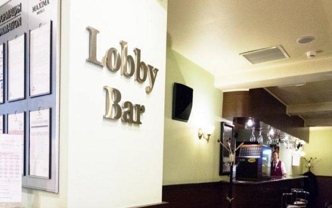 Lobby bar van Hotel Maxima Panorama in Moskou