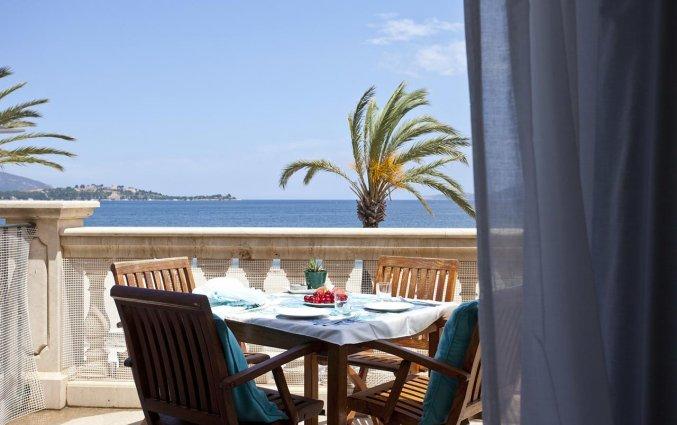 Terras van Aparthotel Galeon Suites op Mallorca