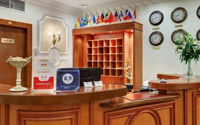 Receptie van Hotel Assambleya Nikitskaya in Moskou