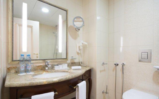 Badkamer van een tweepersoonskamer van Hotel Garden Ring in Moskou