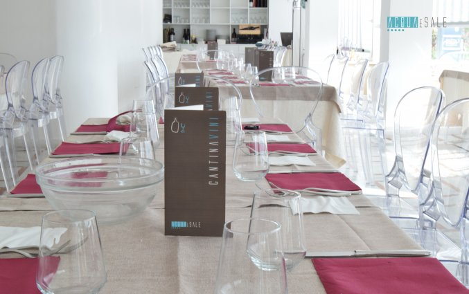 Ontbijtzaal van Hotel Baia Azzurra op Sicilie