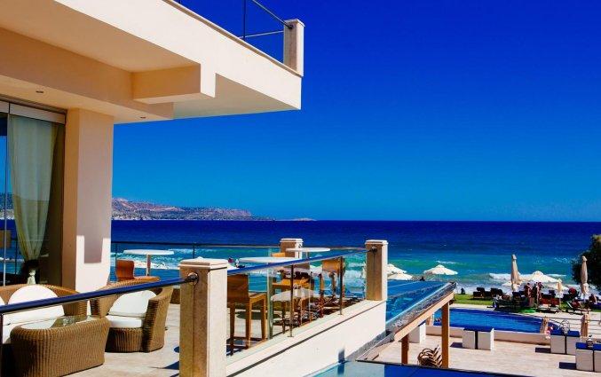 Uitzicht van Hotel Kiani Beach Resort op Kreta
