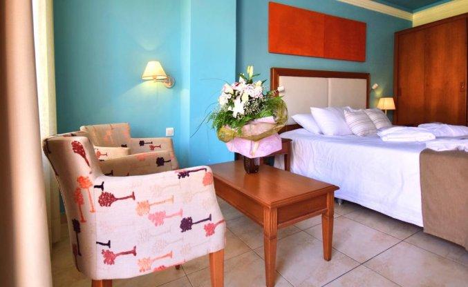 Tweepersoonskamer van Hotel Kiani Beach Resort op Kreta
