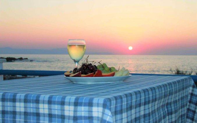 Uitzicht op de zee vanuit Zorbas Hotel Beach Village op Kreta