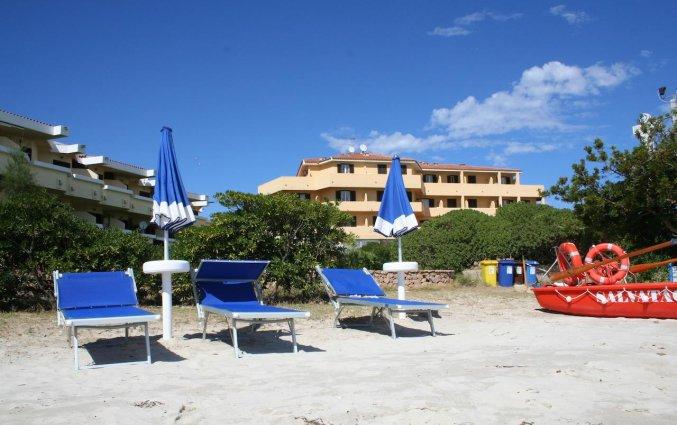 Strand van Hotel Castello op Sardinië